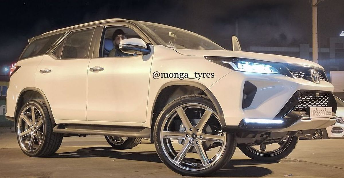 India's first modified Toyota Fortuner Legender is here, and it rides on 24 inch wheels