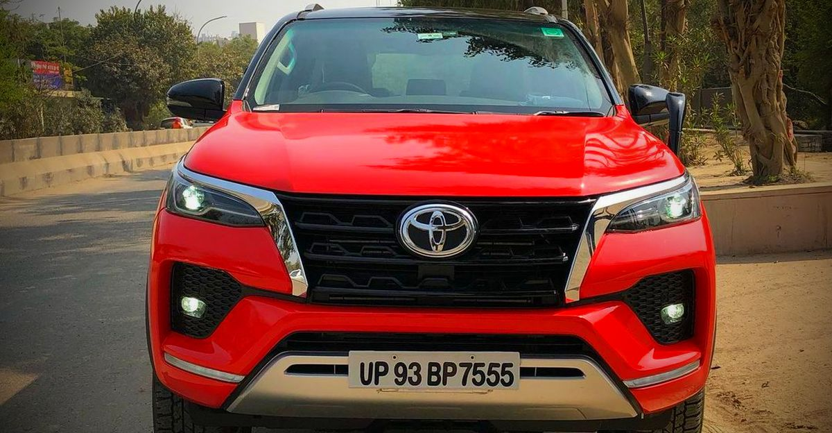 India's only red-wrapped Toyota Fortuner is a stunner