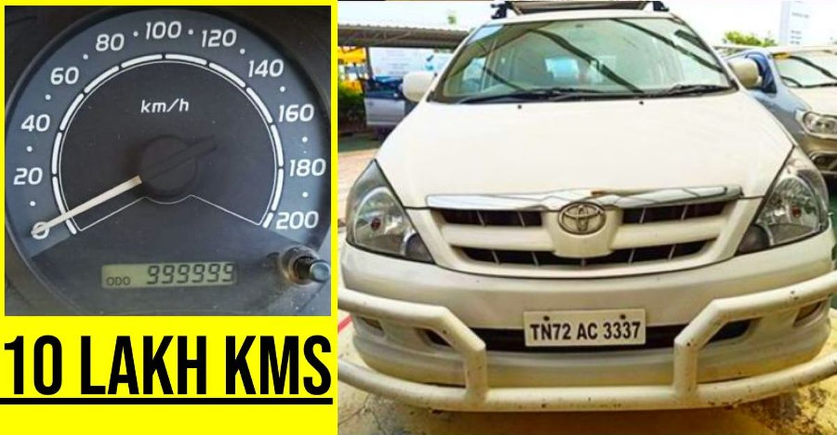A Toyota Innova that has done more than 10 Lakh Kms!
