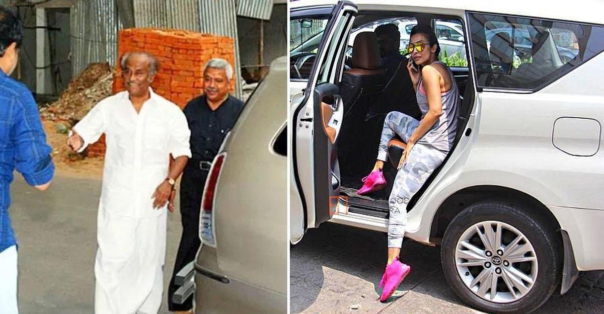 Why do many famous people like Rajnikanth and Aamir Khan use Toyota Innova?