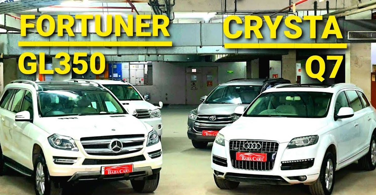 Well-maintained, pre-owned Toyota, Audi & Mercedes 7-seater SUV & MPV starting at Rs 8.75 lakh
