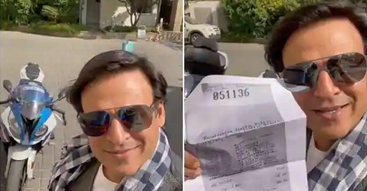 """Vivek Oberoi shares """"Pawri Ho Rahi Hai"""" meme after getting e-challan for helmetless riding"""