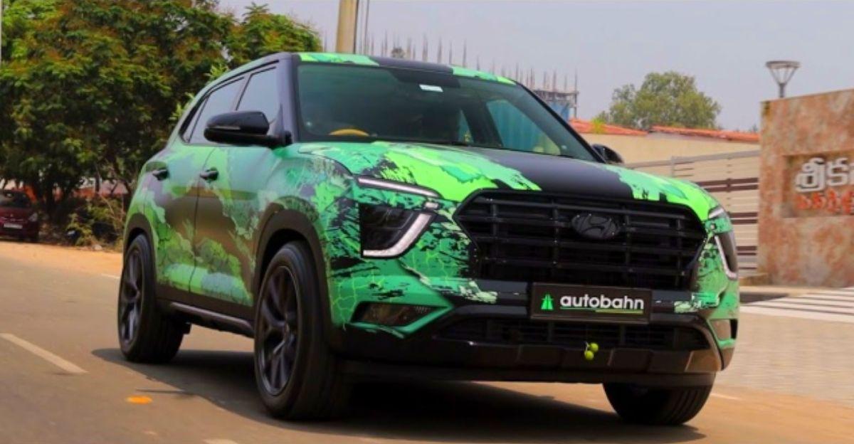 New Hyundai Creta with Green Monster Wrap looks SICK!