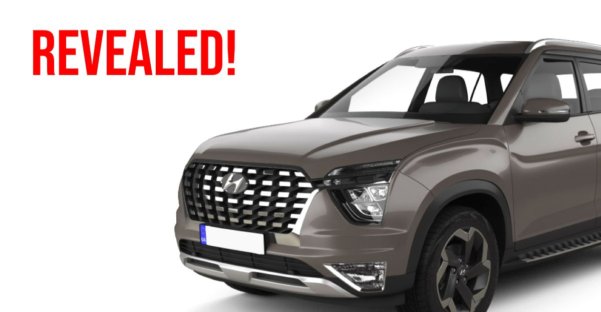 2021 Hyundai Alcazar 7 seat SUV revealed in every angle through a 3D model