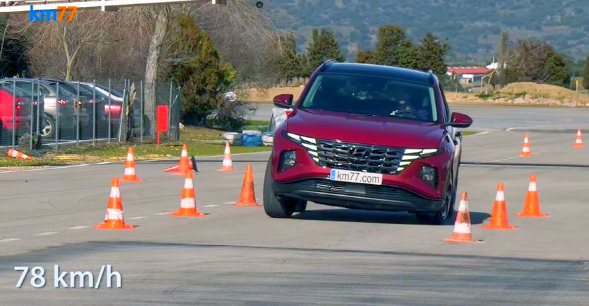 2021 Hyundai Tucson SUV put through the 'moose test'