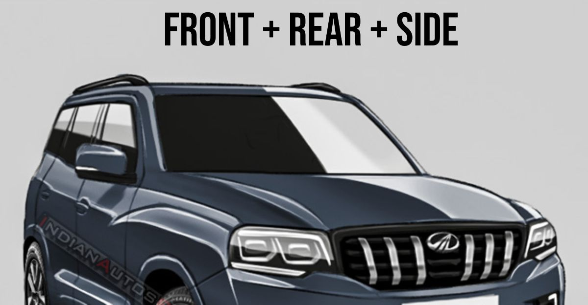 2021 Mahindra Scorpio SUV: What it'll look like from the front, rear & side