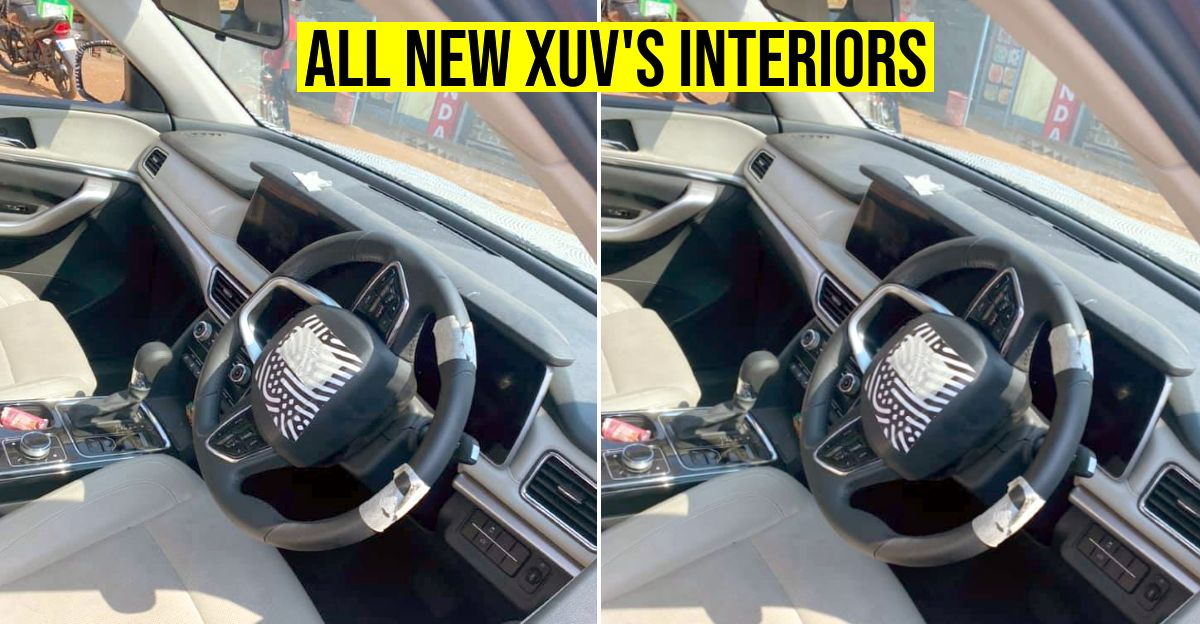 Upcoming 2021 Mahindra XUV500's dashboard revealed completely