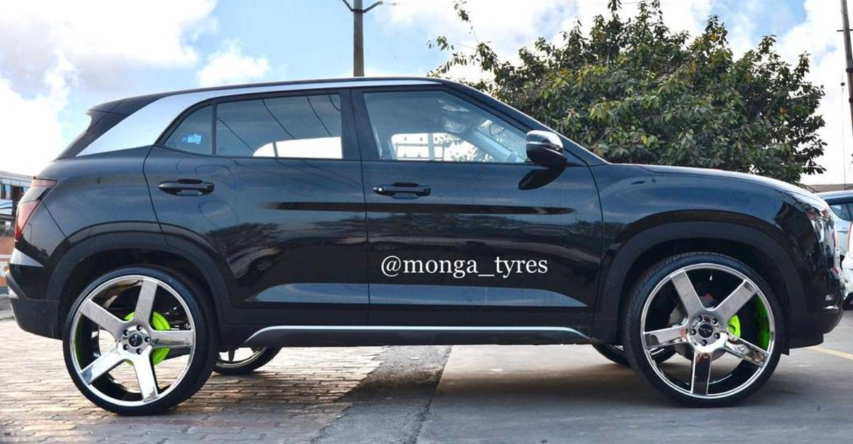 India's first Hyundai Creta with 22 inch alloy wheels is an eye catcher