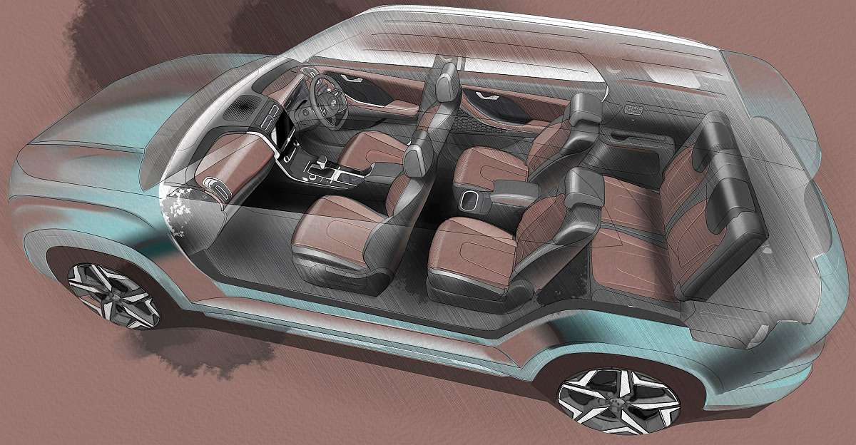 Hyundai Alcazar teasers officially released: 7 seat SUV launching soon
