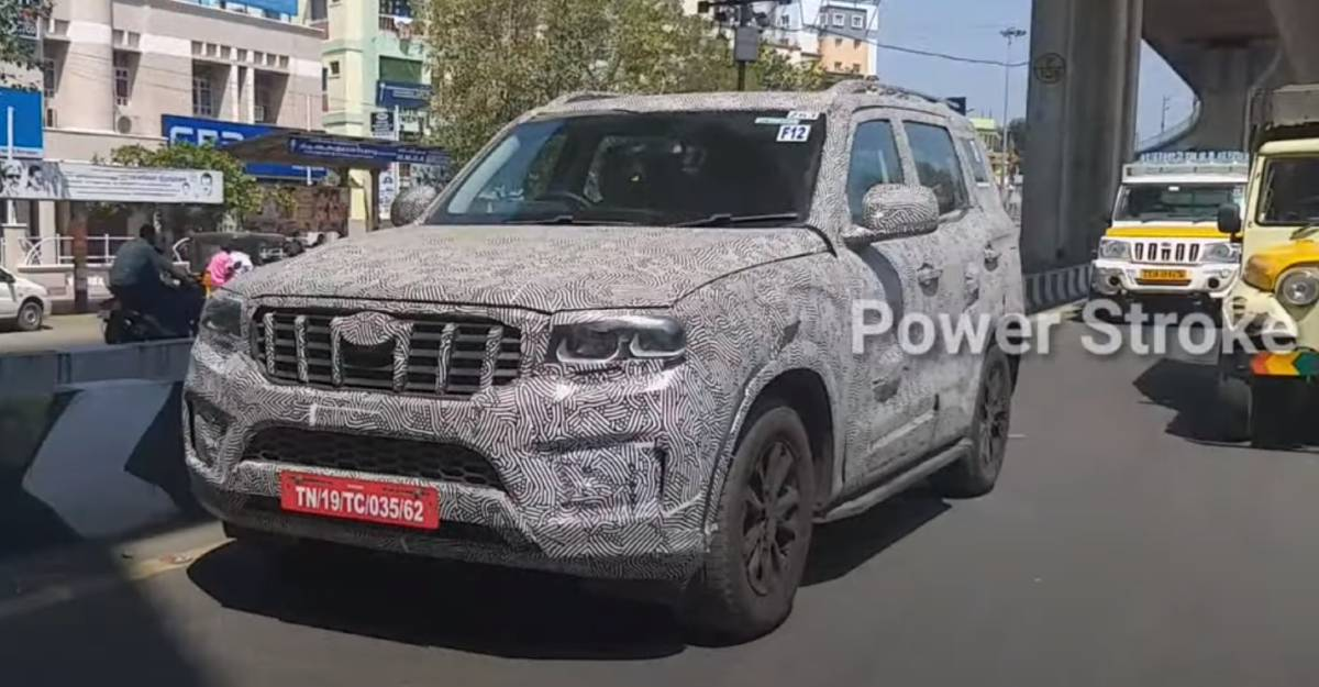 All-new Mahindra Scorpio spied with projector headlamps & rear disc brakes