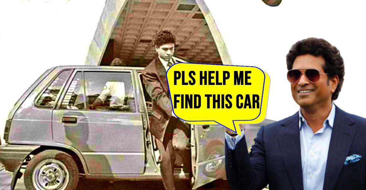 Sachin Tendulkar misses his Maruti 800: Wants his first car back
