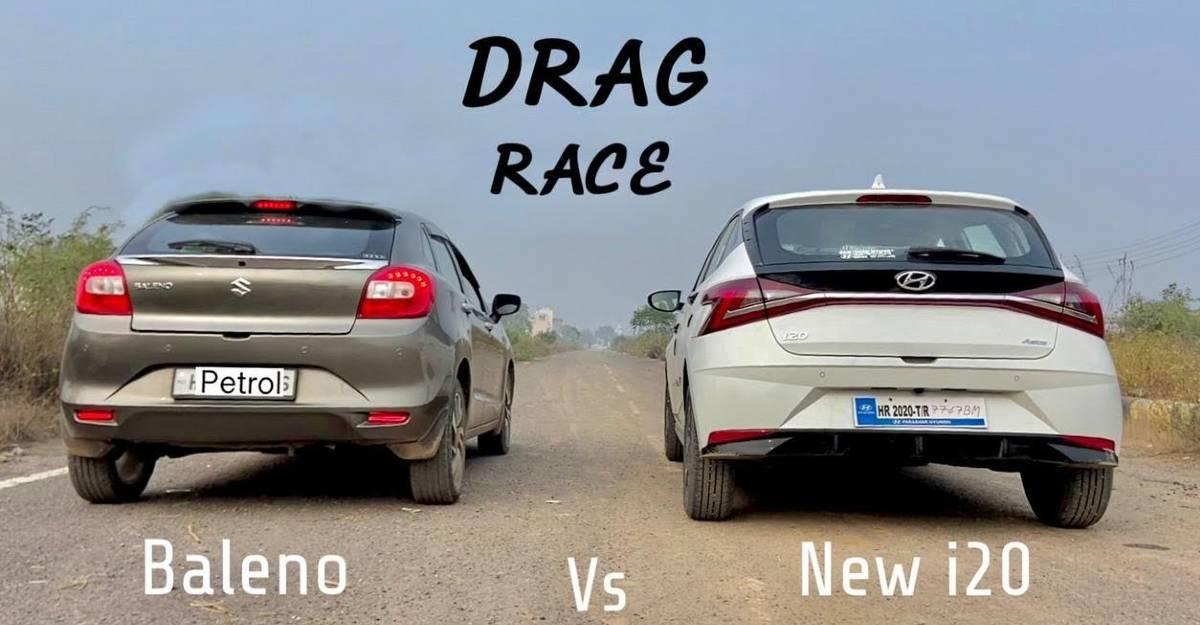 Maruti Suzuki Baleno Vs Hyundai i20 race: Who wins? [Video]