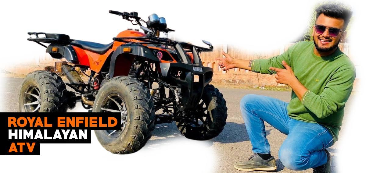 Royal Enfield Himalayan modified into an ATV