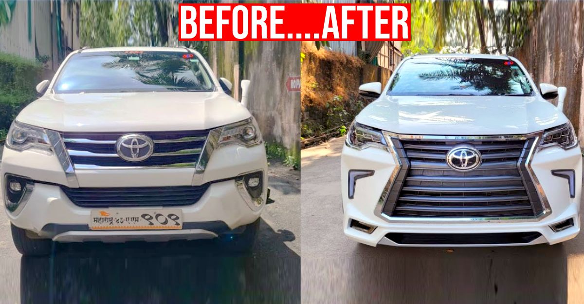 Modified Toyota Fortuner nails the Lexus look