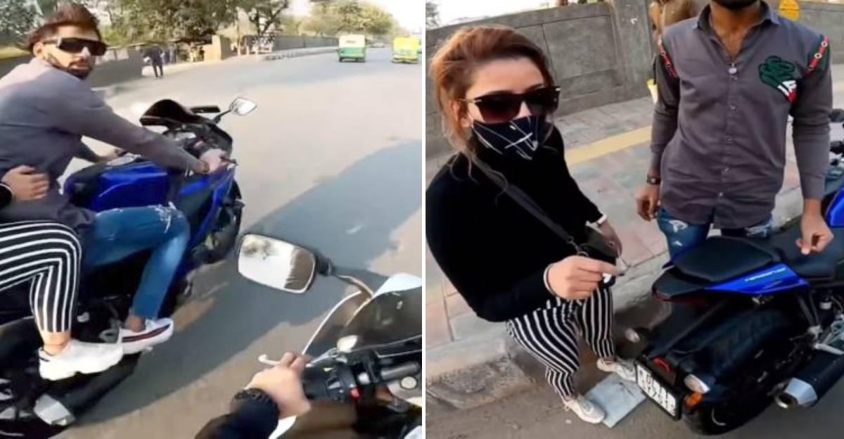 Couple on Yamaha R15 cut off Suzuki Hayabusa rider: Major argument ensues
