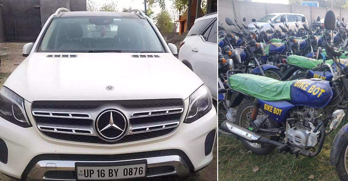 4000 crore bike bot scam: Mercedes, Fortuner, Jaguar luxury cars seized