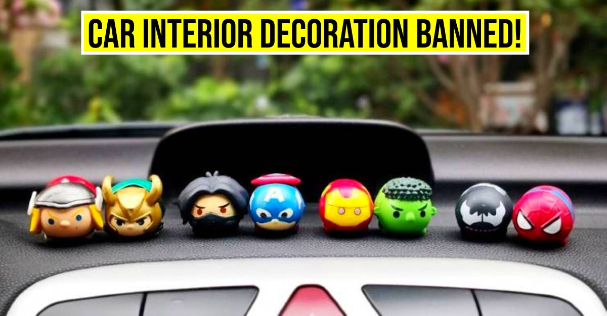 No decoration is allowed inside the car: Government