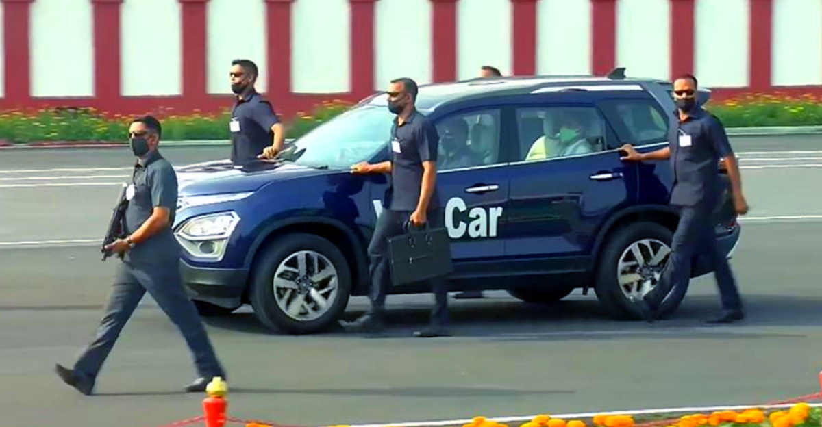Watch CISF personnel use all-new Tata Safari convoy for VIP safety & evacuation