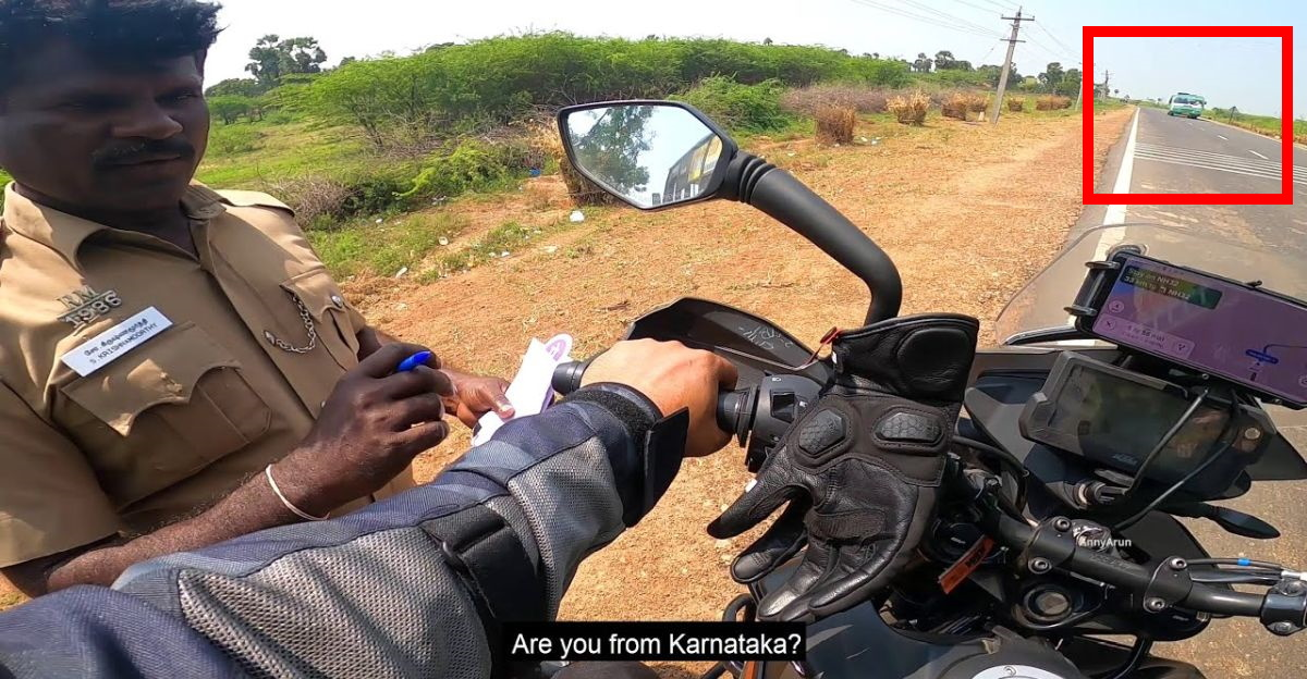 Cop stops KTM Adventure 390 rider, asks him to chase & catch a bus: Here's why