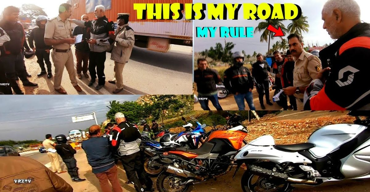 Cop refuses to allow superbikes on Bangalore highway: Says 'it's my rule, won't allow'