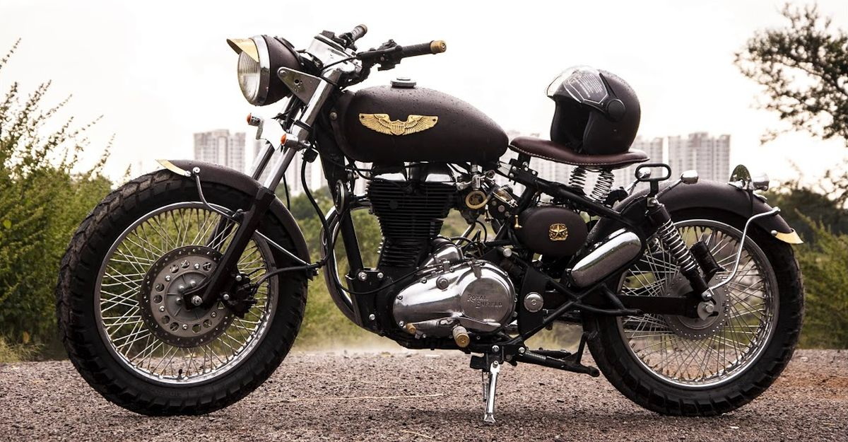 Eimor Customs modifies a Royal Enfield Classic motorcycle into a beautiful bobber