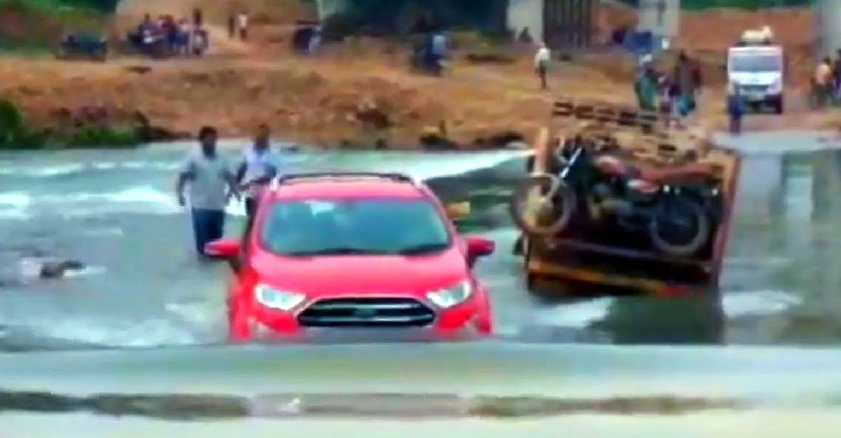 Ford EcoSport shows off its segment-best water wading ability like a boss