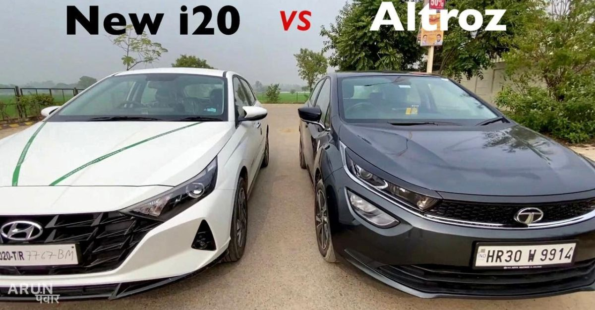 Tata Altroz and all-new Hyundai i20 compared on video