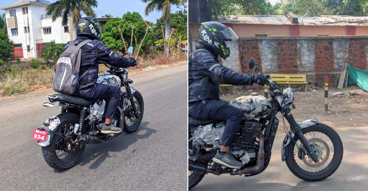 Jawa Scrambler spied testing under camouflage: Looks like a mini Ducati Scrambler