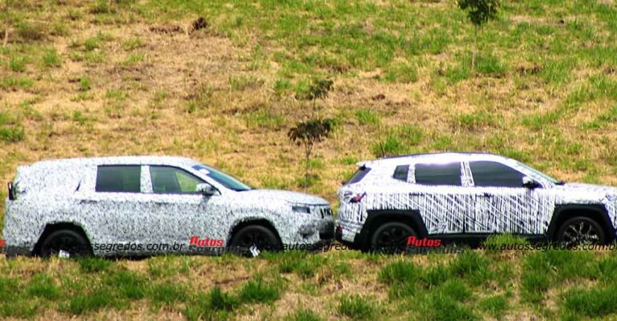 Upcoming Jeep H6 7-seat SUV spied alongside Compass & Renegade