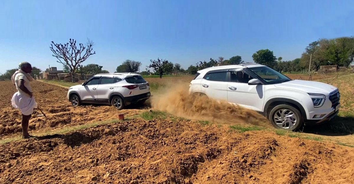 Kia Seltos gets royally stuck not once but twice: Hyundai Creta to the rescue