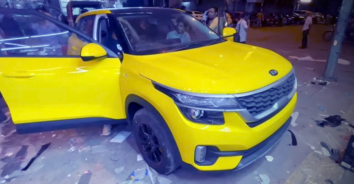 Kia Seltos wrapped in bright yellow is an eye catcher [Video]