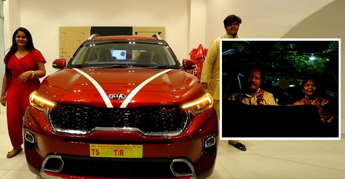 Children surprise Mom & Dad with all-new Kia Sonet on their 25th wedding anniversary