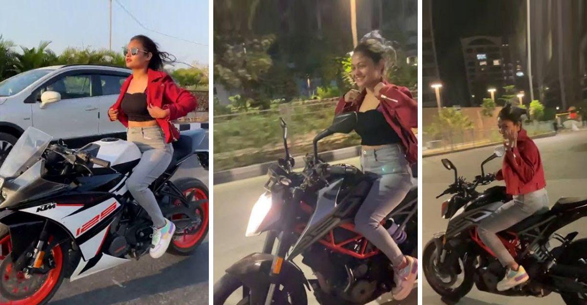 Girl stunts on KTM Duke 390 & RC 390: Arrested after stunt video goes viral