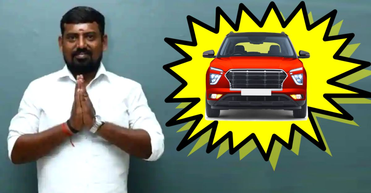 Independent candidate in Madurai, Tamilnadu promises 20 lakh car for every family if voted to power