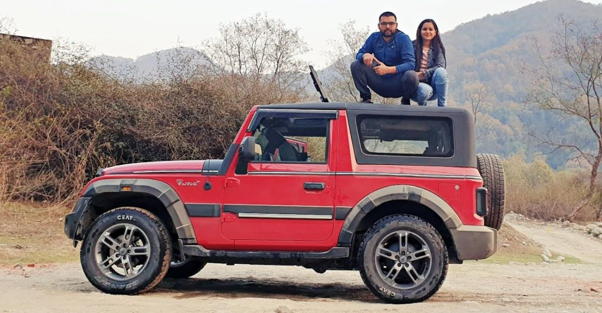 India's first convertible soft-top Mahindra Thar modified with a hardtop