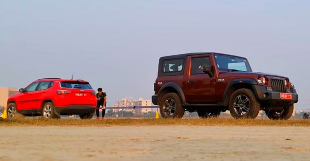 2020 Mahindra Thar vs Jeep Compass in a tug of war [Video] - CarToq.com