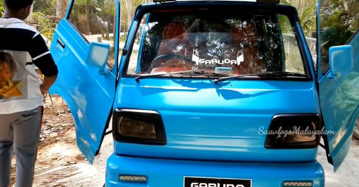 India's only Maruti Suzuki Omni with Scissor doors is as wild as it gets