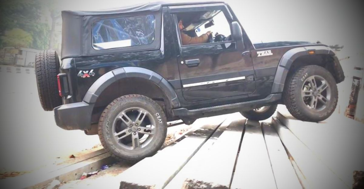 New Mahindra Thar can easily climb stairs, but should you do it?