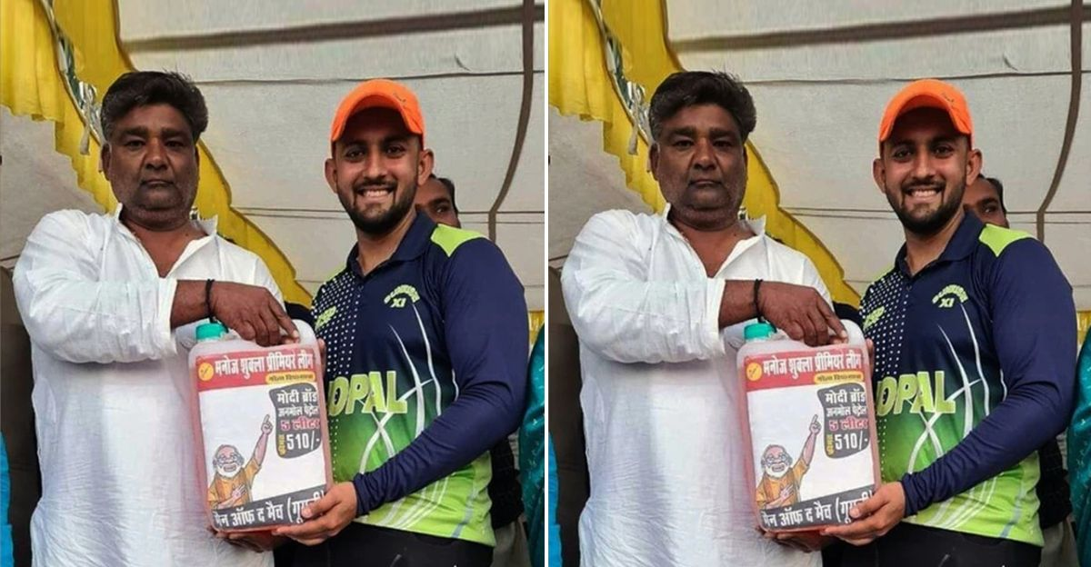 5 litre petrol awarded to the 'Man of the Match' of a cricket tournament