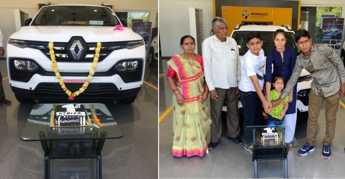 Renault Kiger compact SUV deliveries commence: First pictures from dealership