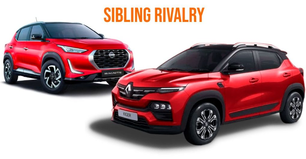 Renault Kiger outsells Nissan Magnite in the very first month of launch - CarToq.com