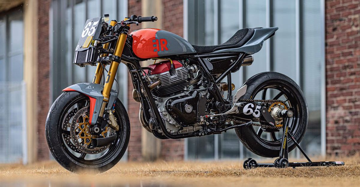 This track-ready Royal Enfield Continental GT650 from Crazy Garage looks radical
