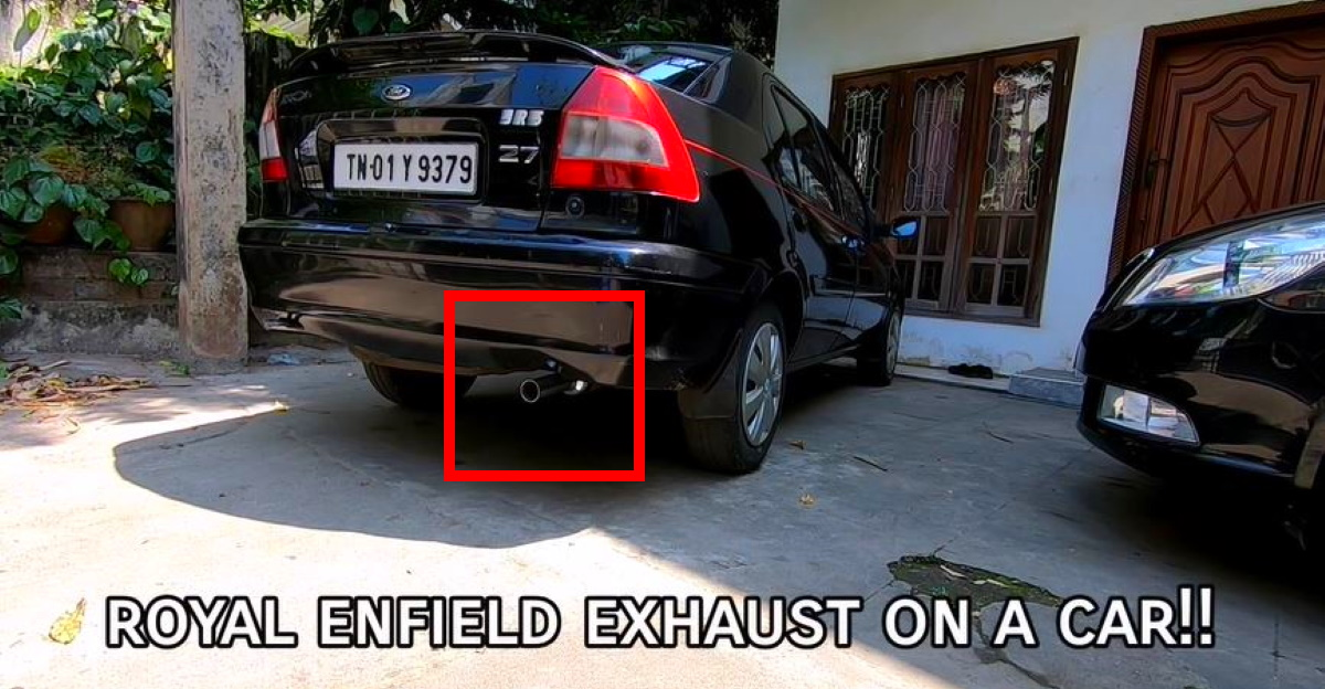What happens when you fit a Royal Enfield exhaust to a car? Here's the answer