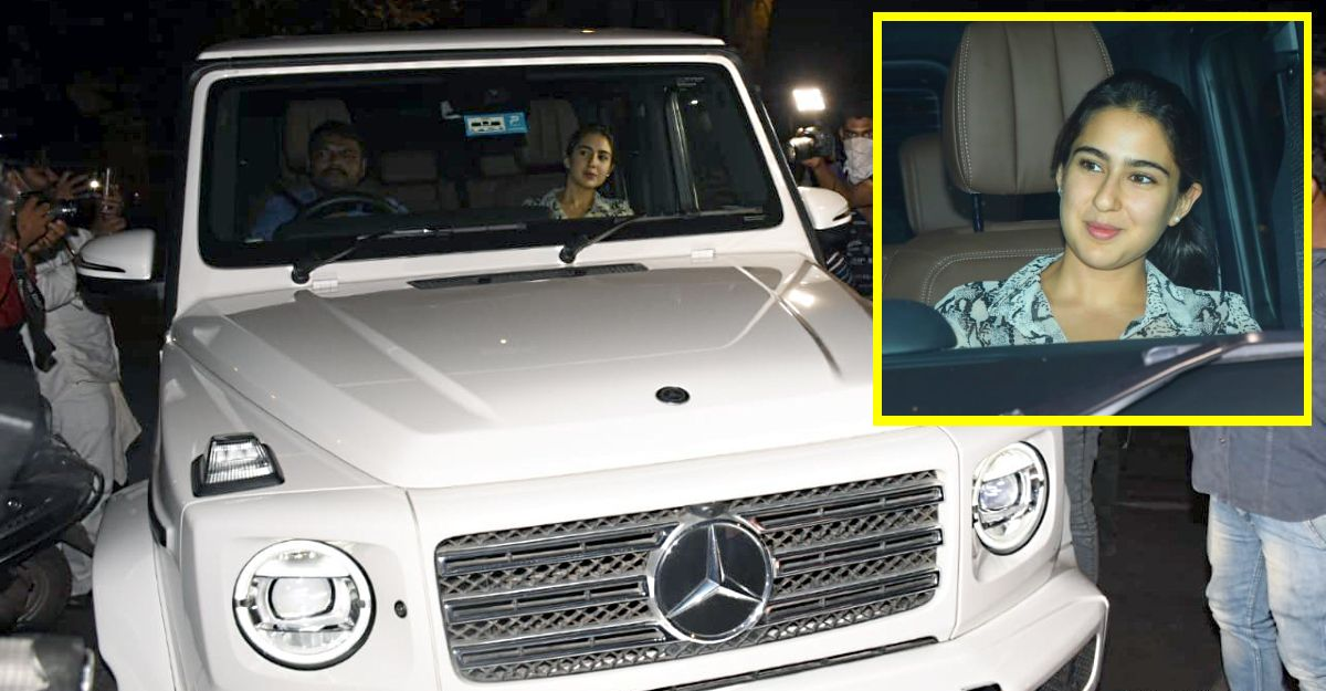 Bollywood actress Sara Ali Khan spotted in her new Mercedes G-Wagen G350D luxury SUV
