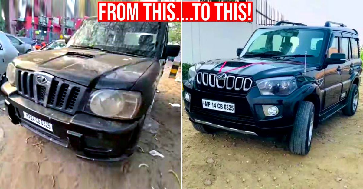 2007 Mahindra Scorpio converted to the latest model for just Rs 1 lakh