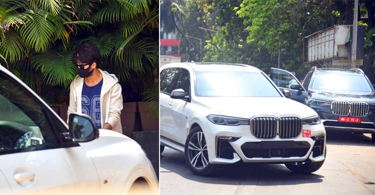 Shahid Kapoor test drives the BMW X7 luxury SUV