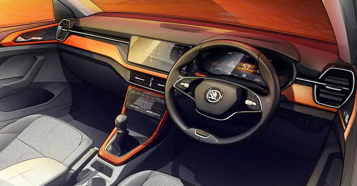 Skoda Kushaq compact SUV's interior sketches officially revealed