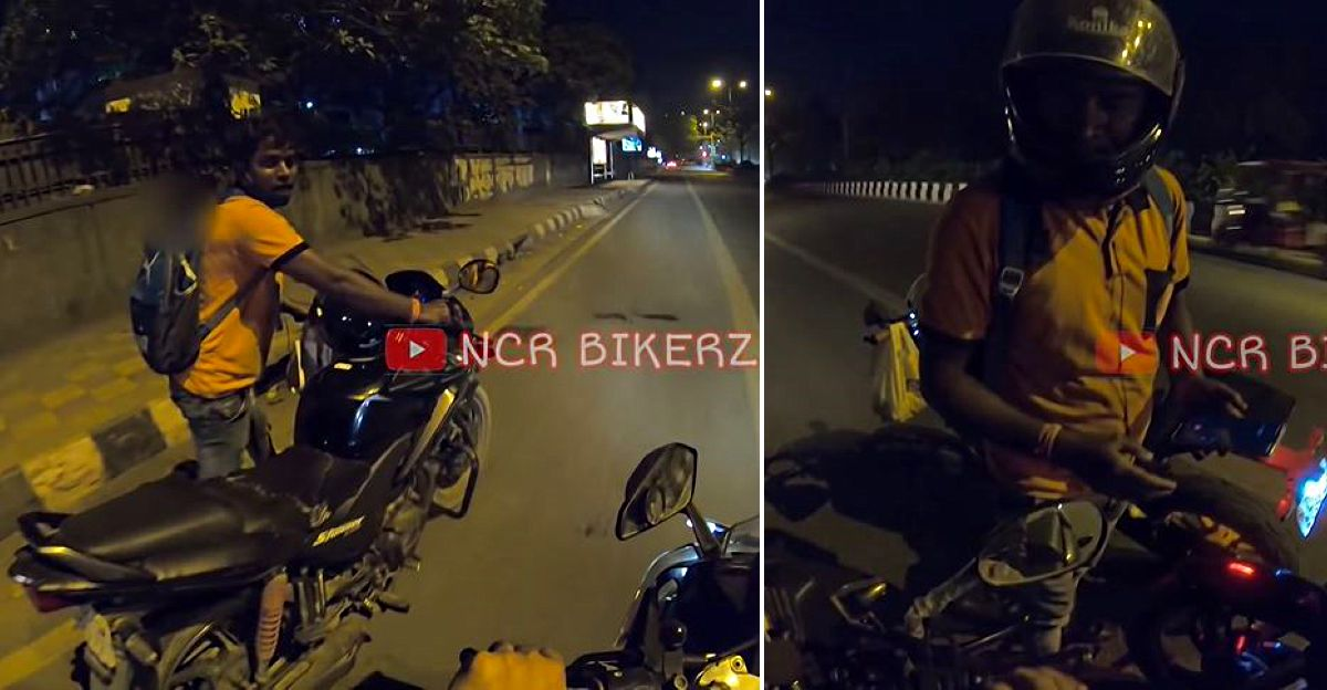 Swiggy delivery boy has a puncture: Biker lends KTM RC390 to help him complete delivery