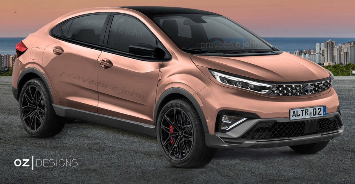 Tata Altroz premium hatchback re-imagined as a crossover coupe