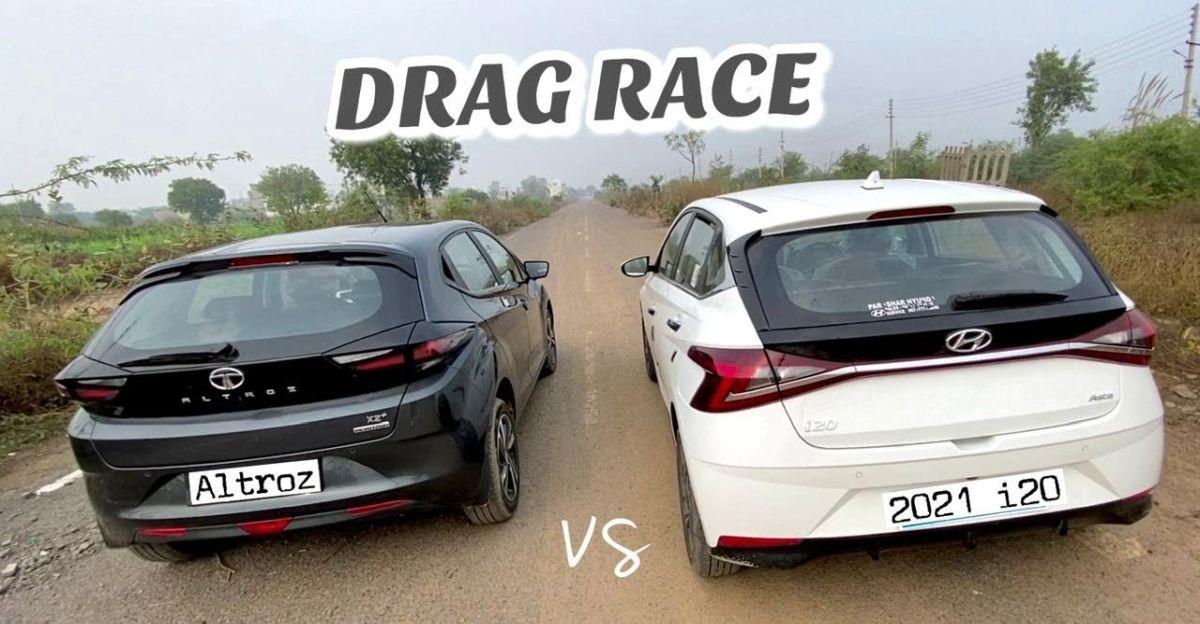 Tata Altroz vs 2020 Hyundai i20 in a drag race